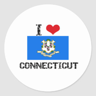 I HEART CONNECTICUT STICKERS