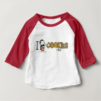 I Heart Cookies & Milk! Baby T-Shirt