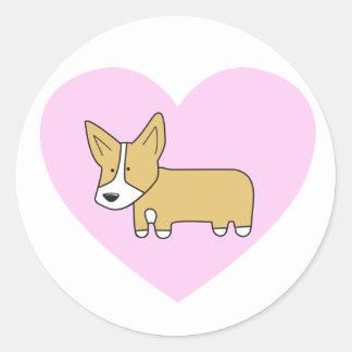 I Heart Corgis Stickers