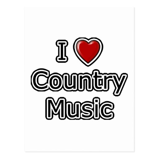 I Heart Country Music Postcard