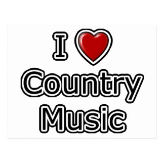 I Heart Country Music Post Cards