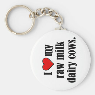 I Heart Cows Basic Round Button Key Ring