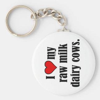 I Heart Cows Key Ring