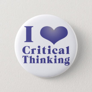 I Heart Critical Thinking 6 Cm Round Badge