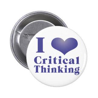 I Heart Critical Thinking 6 Cm Round Badge