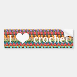 """I heart crochet"" Bumper Sticker"