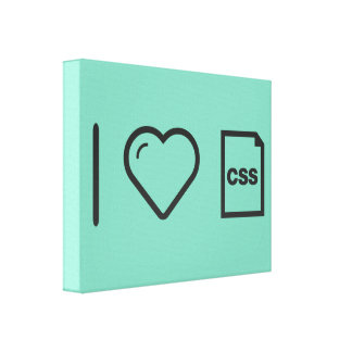 I Heart Css Papers Canvas Prints