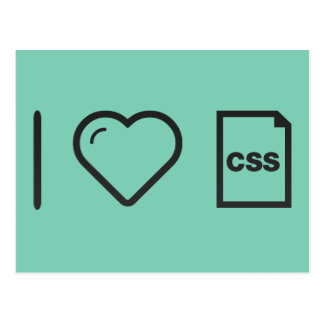 I Heart Css Papers Postcard