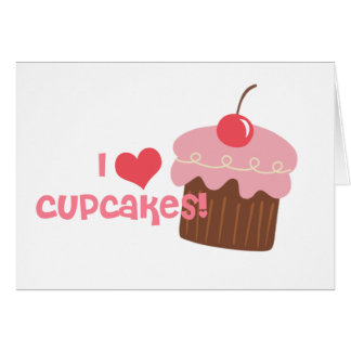 i heart cupcakes greeting card