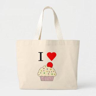 I heart Cupcakes Jumbo Tote Bag