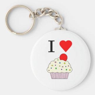 I heart Cupcakes Key Ring