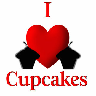 I Heart Cupcakes Cut Out