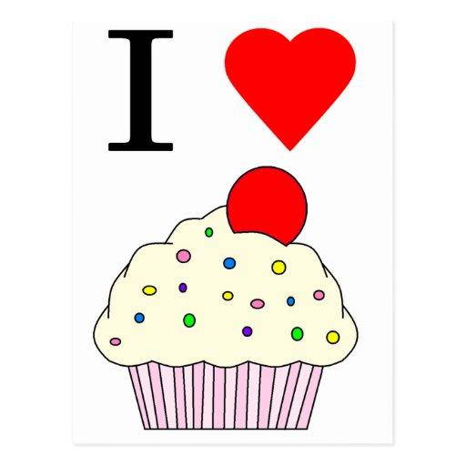 I heart Cupcakes Postcard