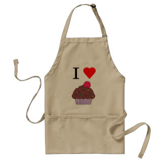 I heart cupcakes standard apron