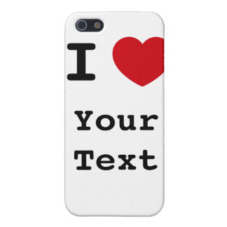 I Heart - Customize - White Speck Case