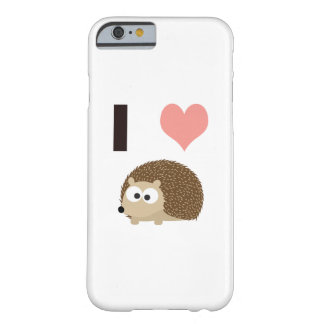 I heart cute hedgehog barely there iPhone 6 case