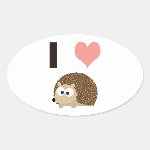 I heart cute hedgehog sticker