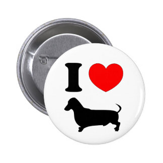 I Heart Dachshund 6 Cm Round Badge