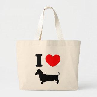 I Heart Dachshund Canvas Bag
