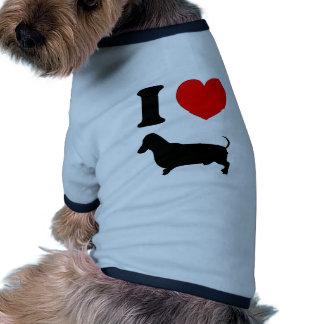 I Heart Dachshund Pet Clothing