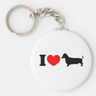 I Heart Dachshund - Landscape Key Ring
