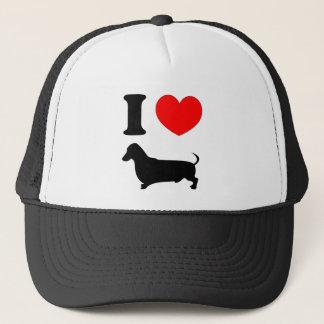 I Heart Dachshund Trucker Hat