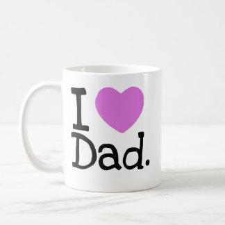 i heart dad coffee mug