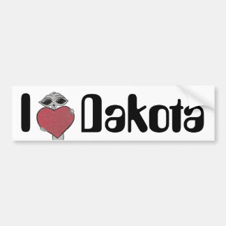 I Heart Dakota Alien Bumper Sticker