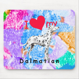 I Heart Dalmatian Mousepads