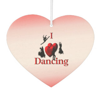 I Heart Dancing Car Air Freshener