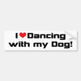I Heart Dancing With My Dog Car Bumper Sticker