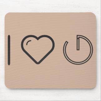 I Heart Dark Logos Mouse Pad