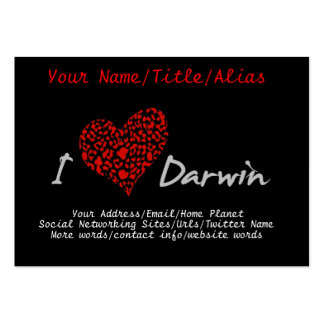 I Heart Darwin Pack Of Chubby Business Cards