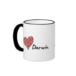 I Heart Darwin Ringer Mug