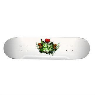 I Heart Death Metal Custom Skate Board