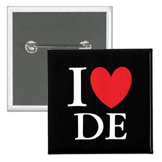 I Heart Delaware 15 Cm Square Badge