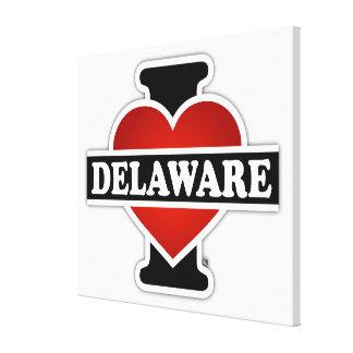 I Heart Delaware Canvas Print