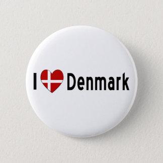 I Heart Denmark 6 Cm Round Badge