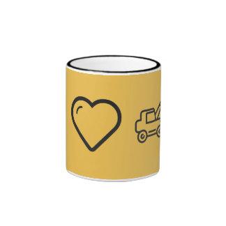 I Heart Digger Hoes Ringer Mug
