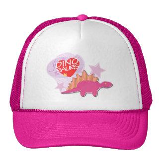 I heart Dinosaurs Pink Cap Hat
