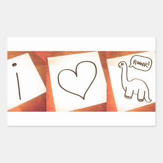 I heart Dinosaurs! Rectangular Sticker