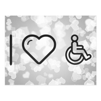 I Heart Disability Signs Postcard