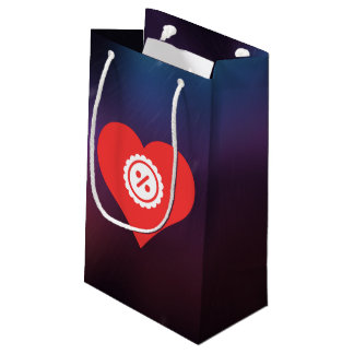 I Heart Discounts Icon Small Gift Bag