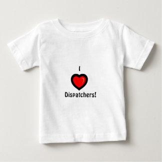 I Heart Dispatchers Baby T-Shirt