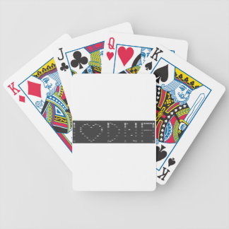 I heart DNA gel Bicycle Playing Cards