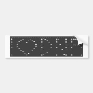 I heart DNA gel Bumper Sticker