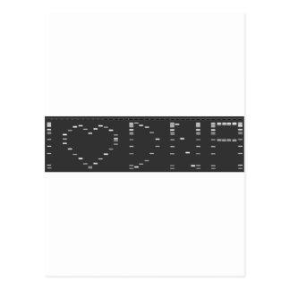 I heart DNA gel Post Card
