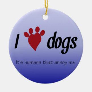 I Heart Dogs Christmas Ornament
