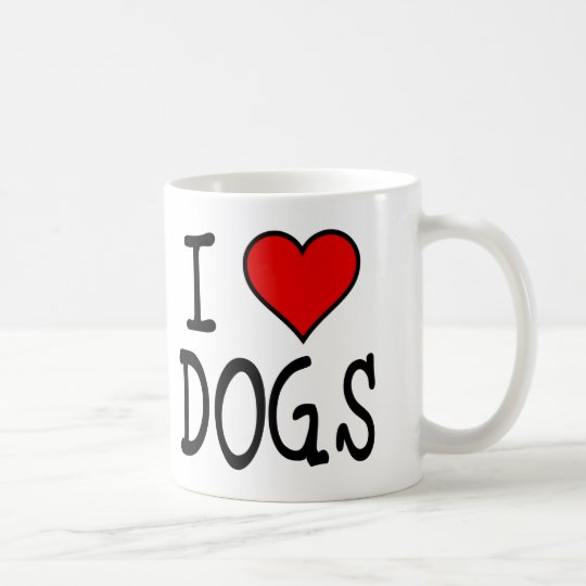 I Heart Dogs Coffee Mug
