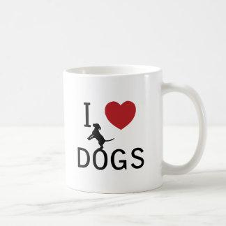 i heart dogs coffee mug